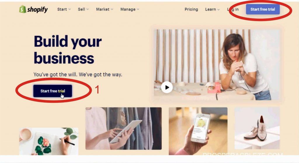 1 how to signup to shopify