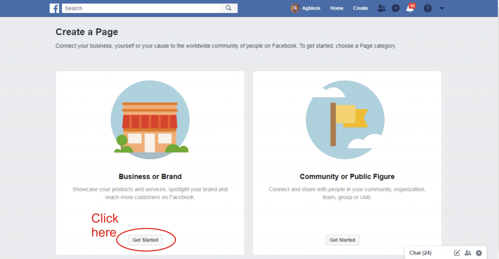 3 which category should i choose when crating a facebook page