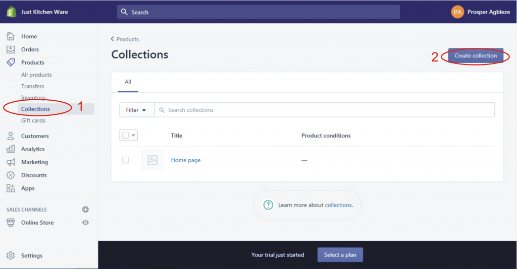 8a how to create collections in shopify