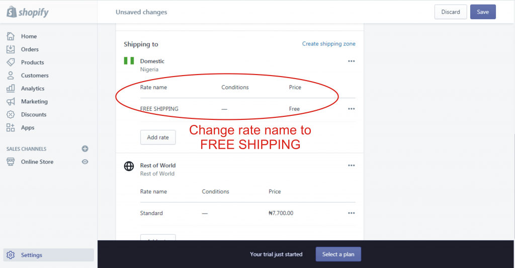 9d how to setup shipping rate in shopify