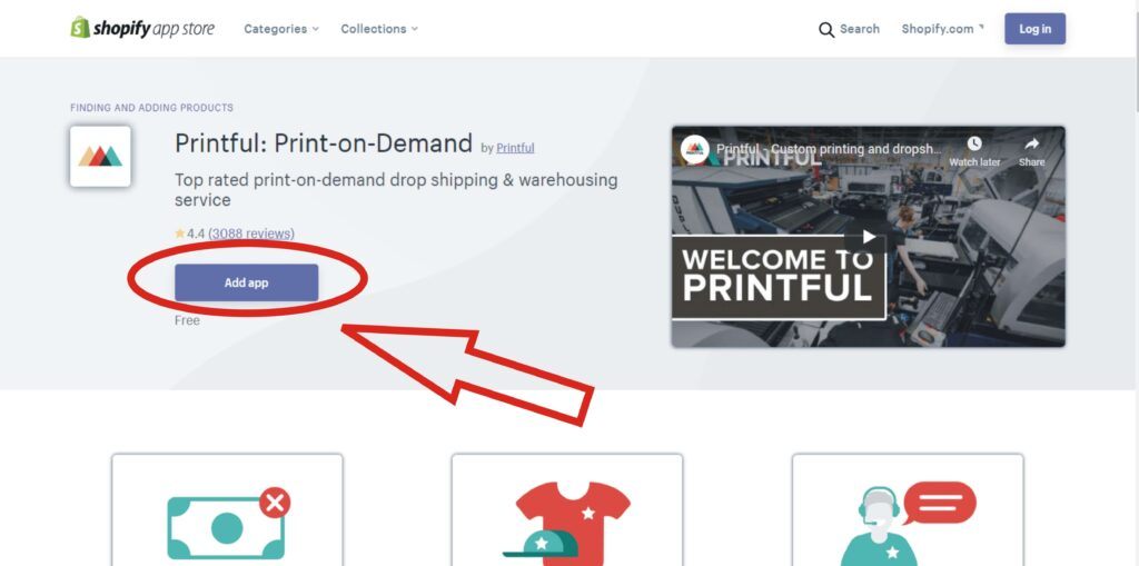 how to add printful app to shopify